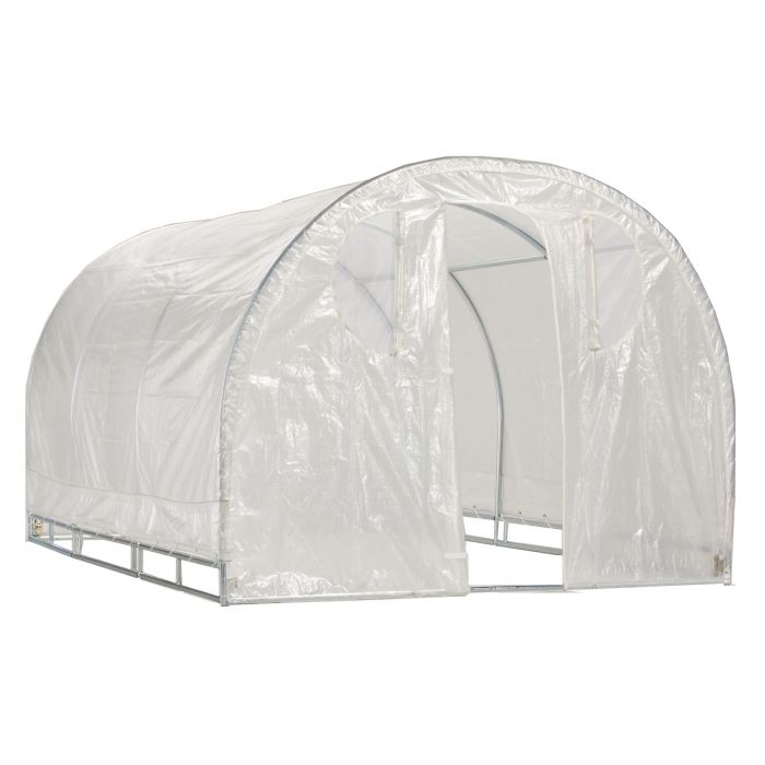 Weatherguard™ Walk In Arched Top Garden Hot House/Greenhouse 8' x 12'