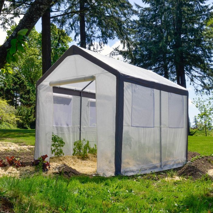 Gable Roof Greenhouse 8'H x 8'W x 10'L, Spring Gardener