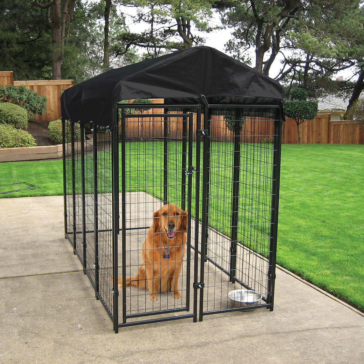 Lucky Dog® Uptown Dog Kennel with Cover
